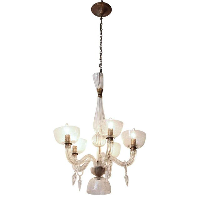 Segusa Mid-Century Modern Blown Glass Chandelier - Image 9 of 10