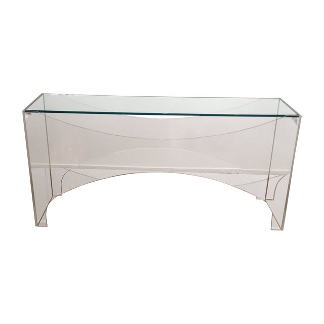 Image of Vladimir Kagan Lucite Console Table