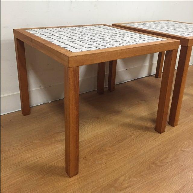 MCM Teak & Tile End Tables - A Pair - Image 4 of 7