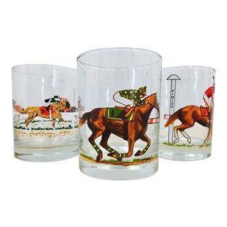Vintage Horse Race Cocktail Glasses