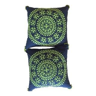 Pottery Barn Pillows W/Tassels - Pair