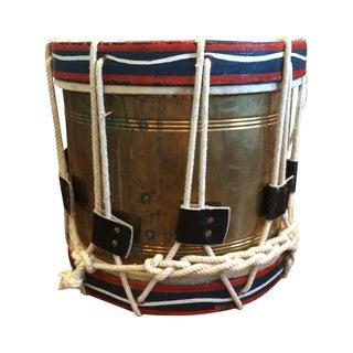 1920's Brass Military Drum