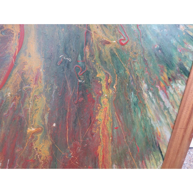 Large Colorful 1960s Abstract Oil - Image 6 of 8