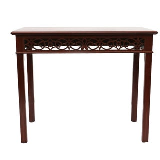 Chippendale Fretwork Console Table