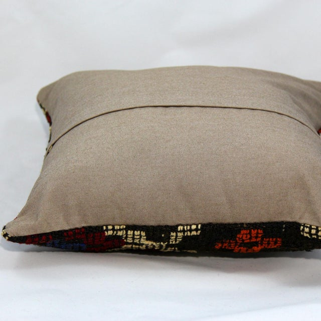 Turkish Handmade Kilim Pillow Cover - Image 4 of 6