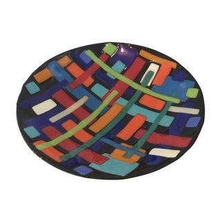 Post Modern Pence Cased Art Glass Bowl