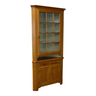 Antique 19th Century Pennsylvania Country Poplar Corner Cabinet