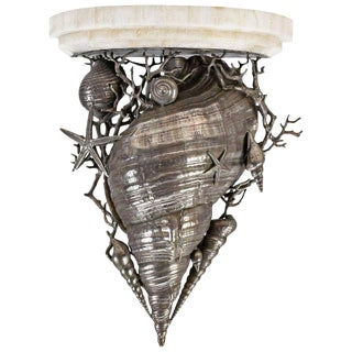 Maitland Smith Nautical Shell Shelf Sconce