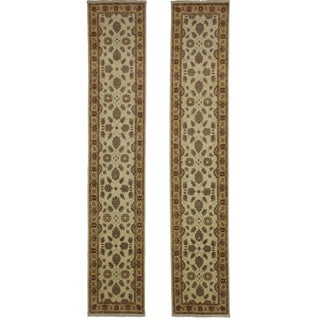 Persian Style Hand-Knotted Wool Runners - A Pair