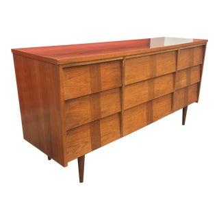 Mid-Century Modern Nine Drawer Dresser