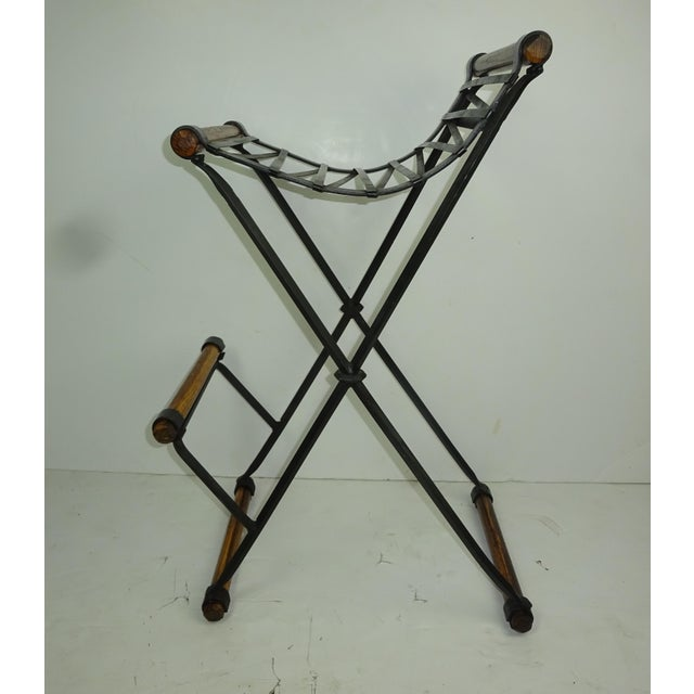 Iron and Oak Bar Stool by Cleo Baldon for Terra - Image 3 of 7