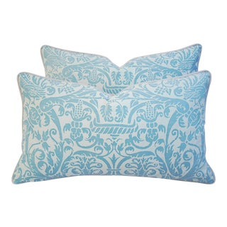 Designer Italian Fortuny Uccelli Pillows - Pair