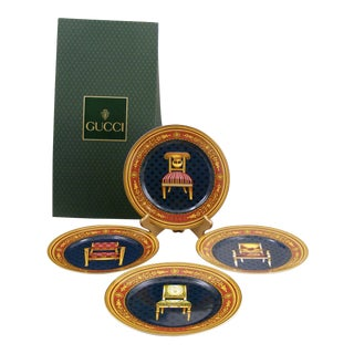 Gucci Porcelain Chair Plates - Set of 4