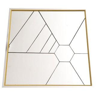Geometric Mirror With Yellow Trim