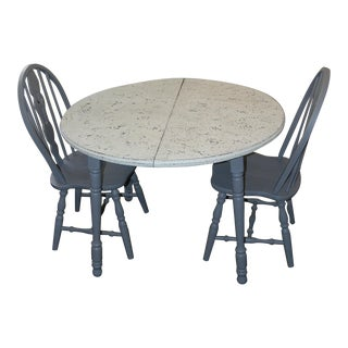 Gray and White Dining Set - Set of 3