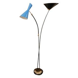 Stilnovo Modernist Mid Century Two Armed Floor Lamp