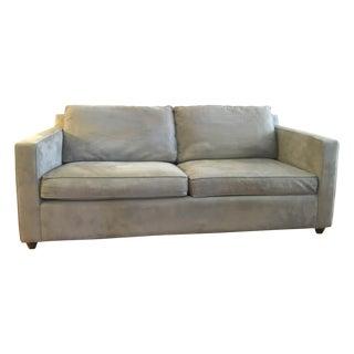 Crate & Barrel Microfiber Davis Apartment Sofa