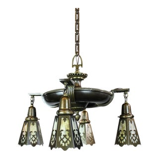 Edwardian Pan Light Fixture (4-Light)
