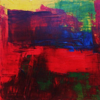 Red, Blue, Green & Yellow Abstract Modern Acrylic