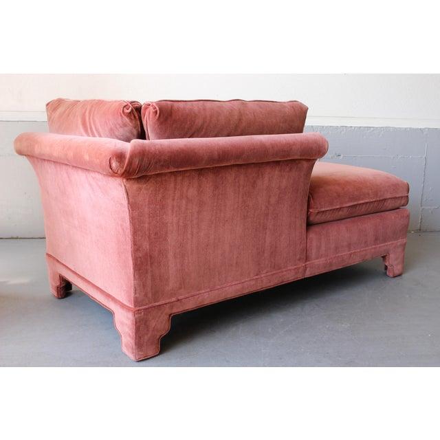 American of Martinsville Velvet Chaise Lounge - Image 7 of 11