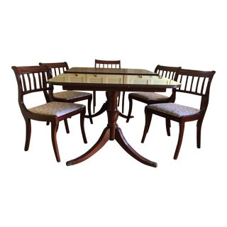 Henredon Heritage Regency Style Dining Table and Chairs - Set of 7