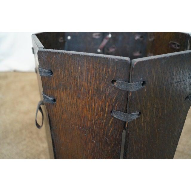Oak Waste Basket ~ Antique mission oak waste basket chairish