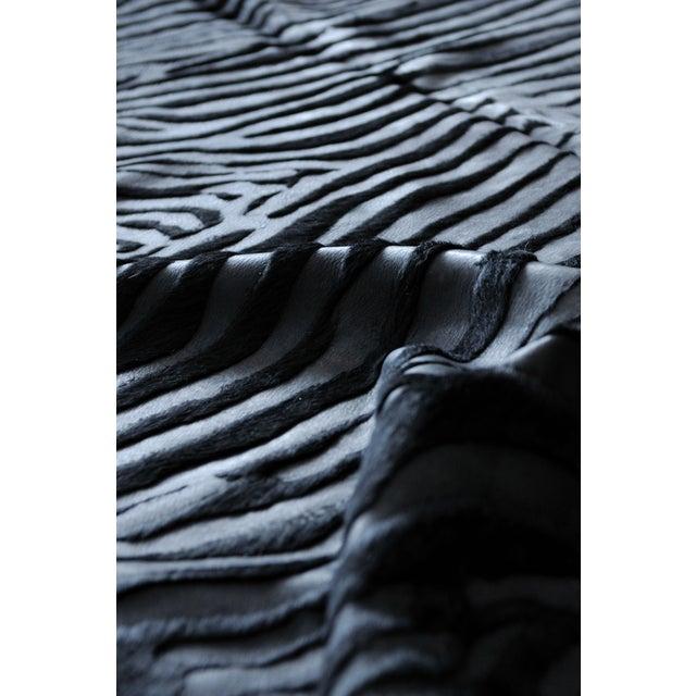 Image of Black Zebra Cowhide Rug - 6' X 7'
