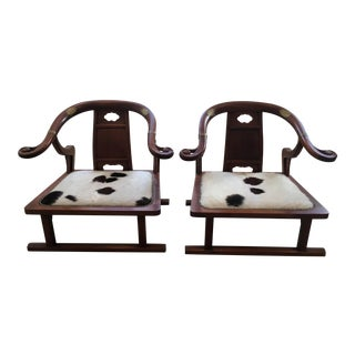 "Michael Taylor for Baker ""Ming Dynasty"" Chairs - a Pair"