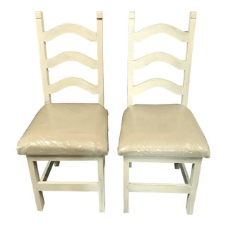Shabby Chic Chairs - A Pair