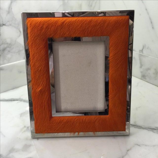 "Orange Ponyskin Frame- 5"" x 7"" - Image 2 of 7"