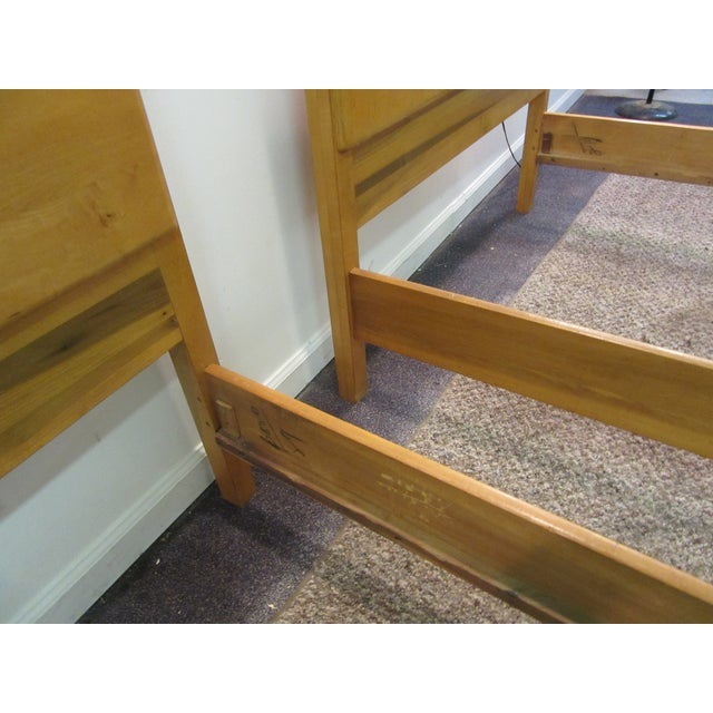 Mid-Century Wakefield Style Twin Beds - A Pair - Image 8 of 11