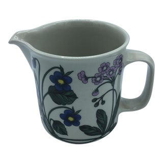 Arabia Finland Floral Motif Pitcher