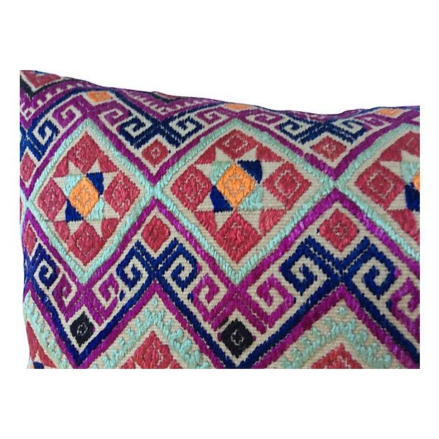 Chinese Wedding Quilt Textile Pillow - Image 4 of 5