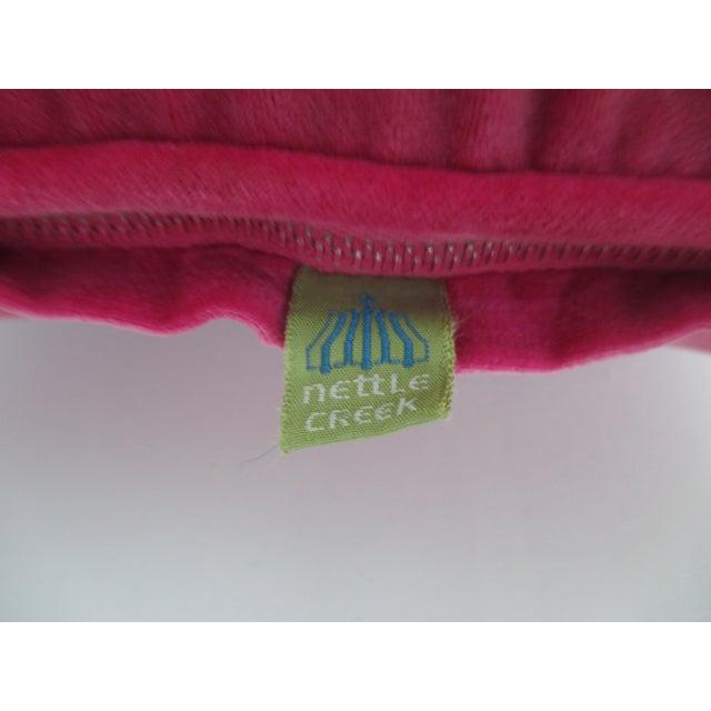 Fuchsia Velvet Vintage Pillow by Nettle Creek - Image 5 of 5