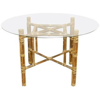 McGuire Organic Modern Reeded Bamboo Dining Table