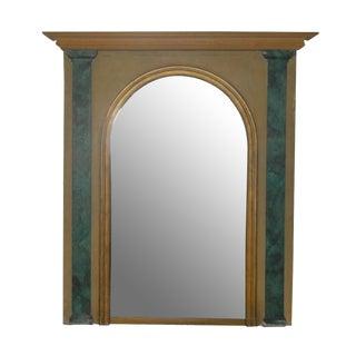 Faux-Malachite Mirror