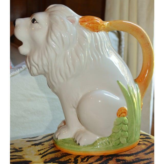 Vintage Italian Ceramic Lion PItcher - Image 5 of 10