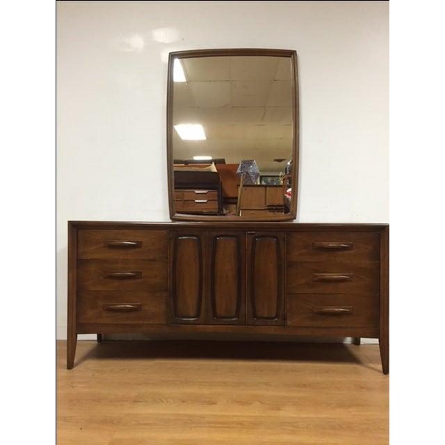 Image of Broyhill Emphasis Mid-Century Dresser & Mirror