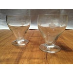 Image of 1930's Glass Cordial Set