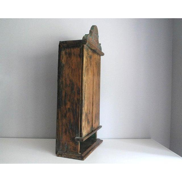Antique 19th Century Brazilian Baroque Oratory Wood Altar Piece - Image 6 of 7