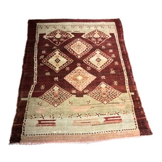 "Bellwether Rugs Rare Distressed Vintage Turkish Oushak Rug - 3'3""x4'3"""