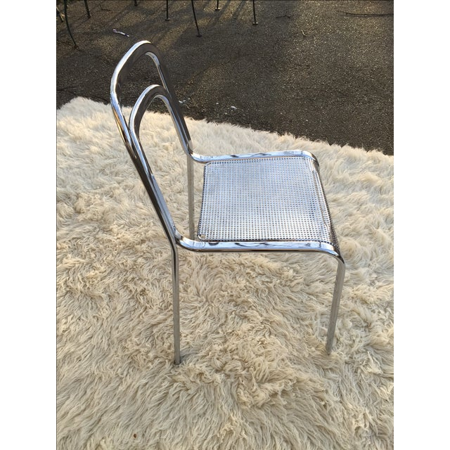 Vintage Chrome Stacking Chairs - 6 - Image 7 of 7
