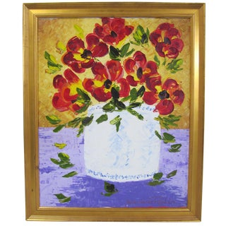 Still Life Floral Painting by Alexandre Renoir
