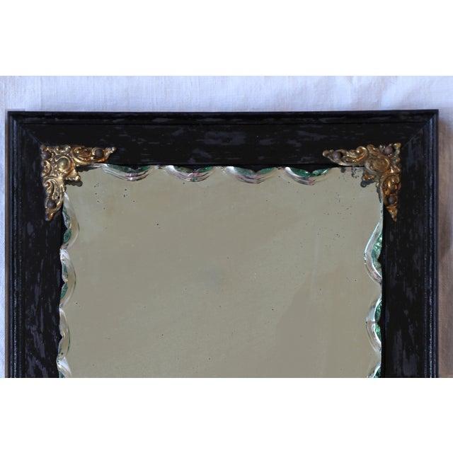 Image of Ebonized Oak Frame Mirror