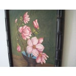 Image of Vintage Signed Floral Painting