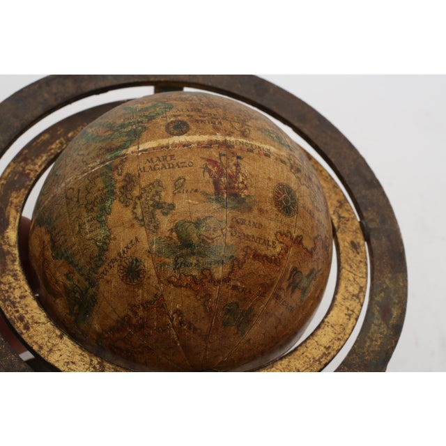 Italian Mini Old World Globe with Brass stand - Image 4 of 10