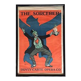 "Original Gilbert and Sullivan ""The Sorcerer"" Framed Poster Print"