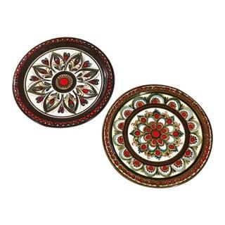 Mid-Century Liechtenstein Pottery Plates - A Pair