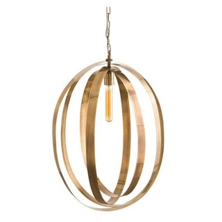 Vintage Brass Band Pendant Light