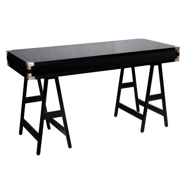 Selamat Designs Chiba Black Lacquer Study Desk - Image 3 of 4